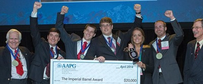 UL Lafayette students with their first-place award from the Imperial Barrel competition